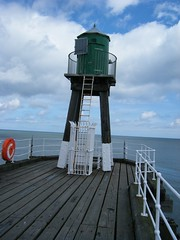 Whitby, North Yorkshire, green light at harbour entrance (rossendale2016) Tags: light green harbour yorkshire ships north entrance aid whitby when navigation entering navigational