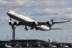 Lufthansa D-AIHB, OSL ENGM Gardermoen (Inger Bjrndal Foss) Tags: daihb lufthansa airbus a340 osl engm norway gardermoen
