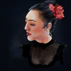 Flamenco Portrait (Pat McDonald) Tags: ballet espaa argentina dance sevilla andaluca spain buenosaires ballerina mediterranean digitalart seville bale artrage gibraltar guapa guitarist flamenco dans ballo bsas albaicin bailar gitana portea bailaora castanet andalus bailaoras lalneadelaconcepcin