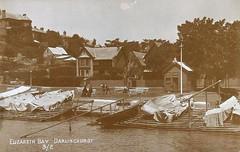 Elizabeth Bay, Darlinghurst, N.S.W. - very early 1900s (Aussie~mobs) Tags: vintage boat sydney australia mansion boatshed darlinghurst elizabethbay
