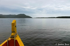Conceicao lagoon in Florianopolis, Brazil (Junior Braz Gallery) Tags: ocean santa city travel blue floripa sea summer brazil sky sun mountain reflection green heritage tourism beach nature water beautiful america landscape island boat sand turquoise gorgeous south horizon wave landmark scene lagoon panoramic florianopolis bow tropical preserved incredible catarina protected purity conceicao