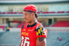 Maryland_White_on_Red_20160416_1985.jpg (hillels) Tags: park game college sports field sport photography one football spring team dj outdoor stadium maryland capitol practice terps byrd durkin collegepark testudo byrdstadium terp capitolonefield djdurkin