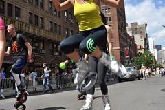 skate (greenelent) Tags: nyc people newyork streets dance jump skate photoaday 365 newyorkdanceparade