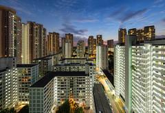 Urban Blues (Jansen Chua) Tags: sunset panorama singapore southeastasia cityscape bluehour hdb publichousing ura tallbuildings toapayoh housingdevelopmentboard urbanredevelopmentauthority jansenchuaphotography