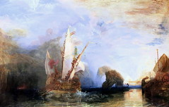 IMG_8133A Joseph Mallord William Turner. 1775-1851. Ulysses deriding Polyphemus - Homer's Odyssey. Ulysse raillant Polyphme - l'Odysse d'Homre. 1829.   Londres National Gallery. (jean louis mazieres) Tags: greatbritain london museum painting unitedkingdom muse nationalgallery londres museo peintures peintres grandebretagne josephmallordwilliamturner