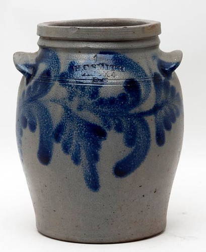 "H. C. Smith Alexander Ovoid Jar with ""Alexandria Motif"" Decoration ($577.50)"