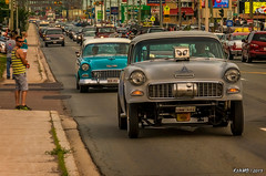 Two 55 Chevys (kenmojr) Tags: auto show cruise classic chevrolet 1955 car racecar vintage drag drive driving antique cruising newbrunswick chevy moncton vehicle 55 carshow dragster gasser dragrace mountainroad 2015 gaser atlanticnationals kenmorris kenmo