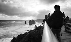 T h e    1 2 (Flakadiablo) Tags: ocean sea sky cloud sun mer nature soleil wind noiretblanc australia ciel greatoceanroad nuage falaise 12apostles australie whiteandblack clif 12aptres