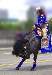 Take A Bow (swong95765) Tags: show horse woman beautiful costume parade bow trick perform rider equestrian trained