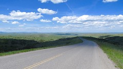 The open road.  The big sky.  Montana. (montanatom1950) Tags: montana suzuki dl650 vstrom motorcycletouring crowindianreservation