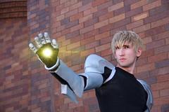 IMG_9974aa (firecloak) Tags: male cosplay hero superhero cyborg opm akon genos onepunchman