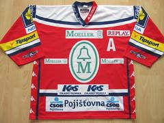 HC Mller Pardubice 2006 - 2007 Game Worn Jersey (kirusgamewornjerseys) Tags: game jan worn jersey mller pardubice snopek
