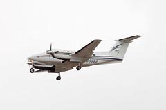 Private Raytheon B200 Super King Air N908BS (jbp274) Tags: airport cloudy airplanes lax beechcraft raytheon beech kingair b200 superkingair klax bizprop