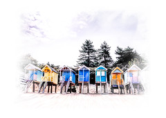 Sand in my shoes (Michelle Tuttle) Tags: sea summer holiday beach sand norfolk relaxing wells huts beachhuts wellsnextthesea