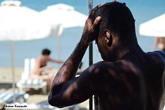 Lindos (Eleanna Kounoupa) Tags: people beach water shower islands greece beaches rodos lindos     dodecaneseislands