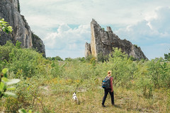 Bél-kő (ididitreally) Tags: trip rock clouds french spring mine bulldog limestone frenchbulldog