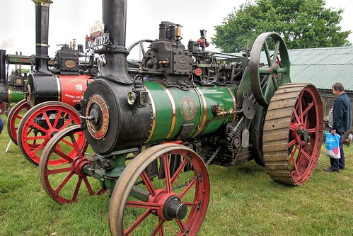 UK, Woolpit Steam Rally, Wallis & Stevens Expansion Engine, HDR