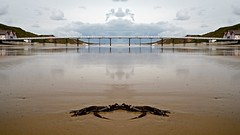 Saltburn -by-the -Sea pier in symmetry. (WolfBlass1) Tags: sea coast pier nikon symmetry nikkor eastcoast saltburn saltburnbythesea d7100 1685dxvr