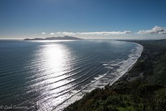 Winter?  Pfffft! (leah-nz) Tags: ocean sea cloud water landscape island waves view outdoor seashore kapiti kapitinz