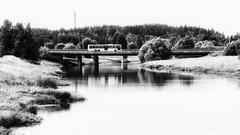 Bus on a bridge (markvall) Tags: aurajoki turku linjaauto silta southwestfinland finland fi river bus reflection heijastus bridge