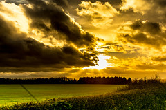 Severence (iratebadger) Tags: england sky sun nature field clouds rural 35mm iso100 countryside nikon colours image yorkshire country perspective nikkor cloudporn skyporn d7100 eastridings nikond7100 barthorpe iratebadger barthorpegrange