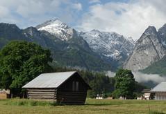 Garmisch Partenkirchen (adr.vesa) Tags: panorama mountains tree nature berg rural forest germany bayern bavaria landscapes barns garmischpartenkirchen alpspitze