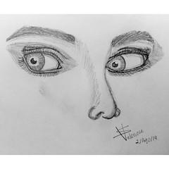 Curiosidad // Curiosity (S Valenciart) Tags: blackandwhite art pencil sketch eyes artist arte drawing ojos dibujo curiosity graphite lpiz curiosidad grafito