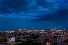 Aarhus Blue (Soren Larsen) Tags: nikon urban blue sky himmel bluehour aarhus rhus danmark denmark havn urbanview night nat d700 ship bltime bl
