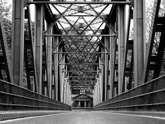 toll (davidnofish) Tags: uk bridge scotland olympus toll girders moray trusses 1952 spey tollhouse em1 speyside m1240mm