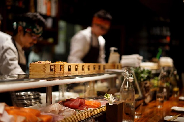 Sushi bar @uchiaustin #atx #yum #chefs #professionals