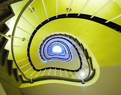 Dsseldorf - Germany (Hewraman (Catching up ) :-)) Tags: blue green germany spiral deutschland staircase nrw dsseldorf wendeltreppe
