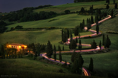 Tuscan race (Q-lieb-in) Tags: longexposure travel italy night race traffic tuscany nightphoto phototravel cartrails    qliebin