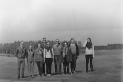 Blurry group picture (Robin Geys) Tags: 2 netherlands stand kodak no brownie hawkeye 100 rodinal development cartridge fomapan weert