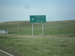 MT-7 South - Carlyle Road (sagebrushgis) Tags: sign montana intersection wibauxcounty biggreensign mt7