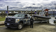 Gently does it (Tony Tomlin) Tags: canada ford truck boats bc britishcolumbia pickup crescentbeach f450 southsurrey crescentbeachmarina