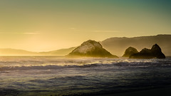 Seal Rocks next to the Cliff House in SF (Alan _T_) Tags: ocean sunset cliff house san francisco rocks seal