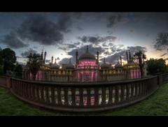 Brighton Pavillion. (Alex takes photos.) Tags: pink sunset sun color colour colors sussex pier high nikon brighton colours dynamic indian warp east full fisheye russian range zenitar hdr d610 photomatix framce