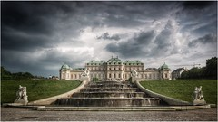Calm before the storm (barbara.zemann) Tags: belvedere wolken wolke clouds cloud vienna wien