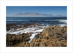 A prisoner's view (andyrousephotography) Tags: city morning sunset sea mist museum sunrise canon photography eos rocks tour view shoreline capetown icon prison 5d tablemountain prisoner nelsonmandela robbenisland moneyshot mkiii 46664 24105mm
