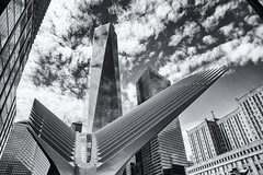 8 Billion Dollar View (dicksoto) Tags: nyc newyorkcity newyork manhattan worldtradecenter groundzero santiagocalatrava 911memorial freedomtower worldtradecenterpathstation oneworldtradecenter