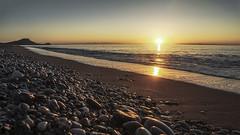 Lever du soleil sur la Turquie (coco.evinrude) Tags: sunset reflet paysage rhodes rivage mditerrane