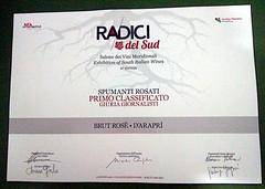 d'Arapr e Radici del Sud 2016 (Sparkling Wines of Puglia) Tags: ros spumante pergamena metodoclassico radicidelsud salonedeivinimeridionali