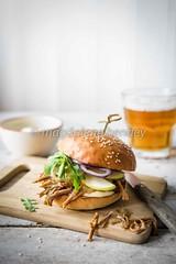 Pulled pork burger with apple relish (magshendey) Tags: burger pork savoury foodphoto pulledpork foodstyling