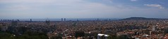View over Barcelona (LakeRidge Photography) Tags: barcelona spain sagradafamilia tower skyline ocean port montjuic guell parc torre agbar park