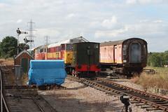 20150815 059 CVR Castle Hedingham. 47771 (D1946, 47503), 31255 (D5683), Andrew Barclay 0-4-0DM 349 Built 1961, BR Mark 1 POT 80405 (Former BSK 35009) (15038) Tags: 1 track br diesel mark trains class pot locomotive 31 railways britishrail cvr 80405 349 castlehedingham sidings bsk 31255 35009 colnevalleyrailway andrewbarclay 040dm d5683