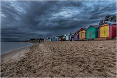 Bayside 76 (RissaJT_23) Tags: sea sky people colour beach water clouds canon sand brighton bayside brightonbeach beachhuts bathingboxes canon1740mm canon6d canoneos6d bayside76