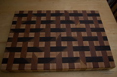 A new cutting board I just finished (bcr160) Tags: cherry maple nikon basket board walnut cutting weave d7100 kl0 bcr160