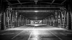 Tunnels (Fret Spider) Tags: street leica bridge chicago night dark tunnel symmetry beyond manual mirrorless leicanoctiluxm50mmf095asph sonya7rii