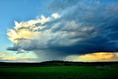 Evening storm in central Alberta