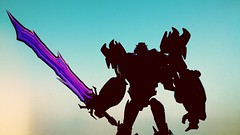 Megatron - Transformers Prime (Solitude is preferred) Tags: transformers transformersprime darkenergon purple clear transparent sword robot japanese toy collection decepticon silhouette saber jagged dark evil
